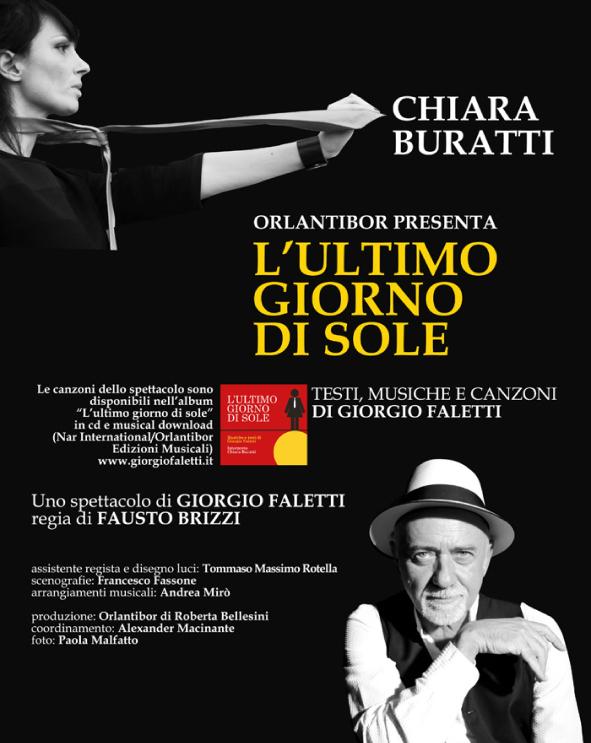 """Nel 2019 prosegue il viaggio dello spettacolo """"L'ultimo giorno di sole"""" di Giorgio Faletti nei teatri italiani!"""